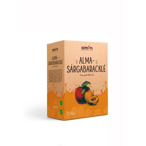 100% Sárgabarack-Almalé - 3 L